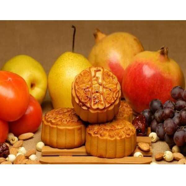 bánh trung thu Như Lan và táo